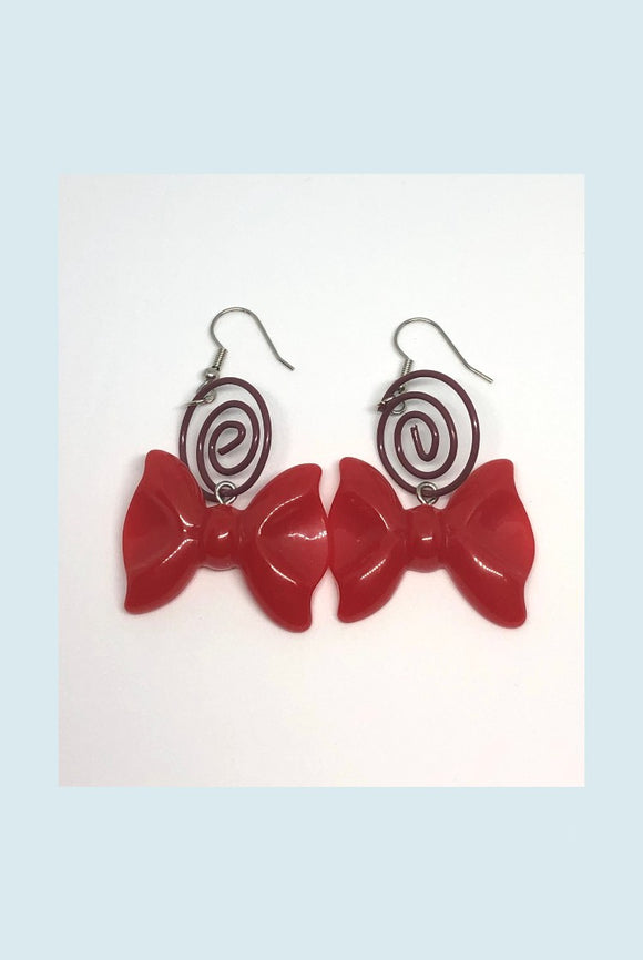 ☯Red Bow Earrings☯
