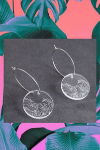 Japanese Wave Earrings