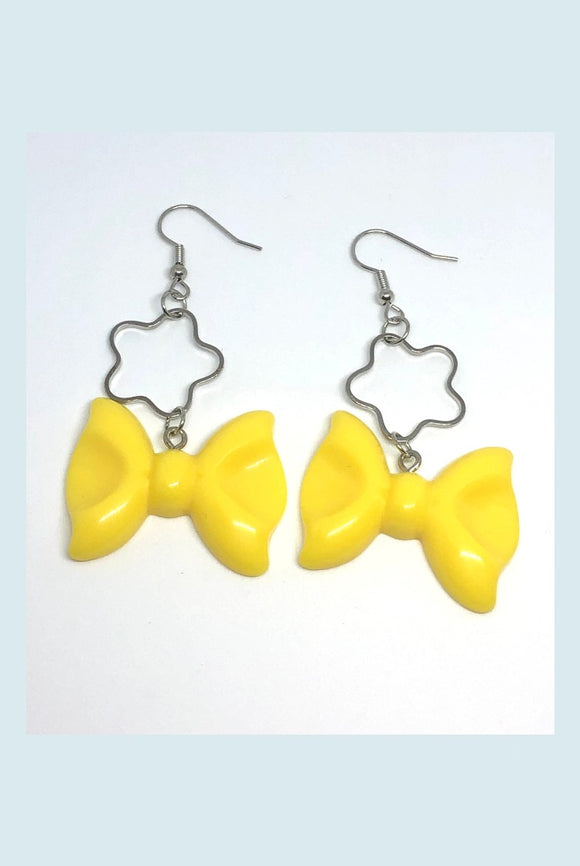 ☯Yellow Bow Earrings☯