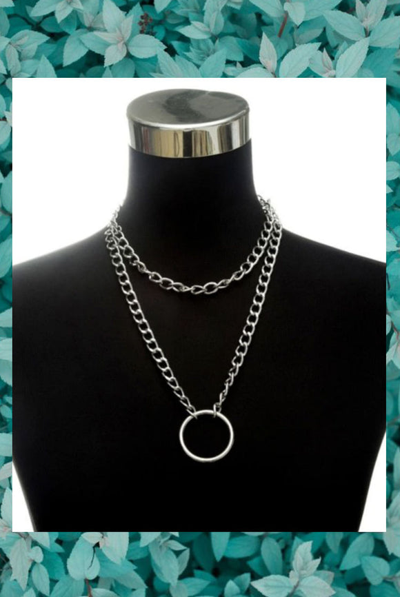Grunge O Chain Necklace