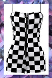 Checkered One Piece Playsuit