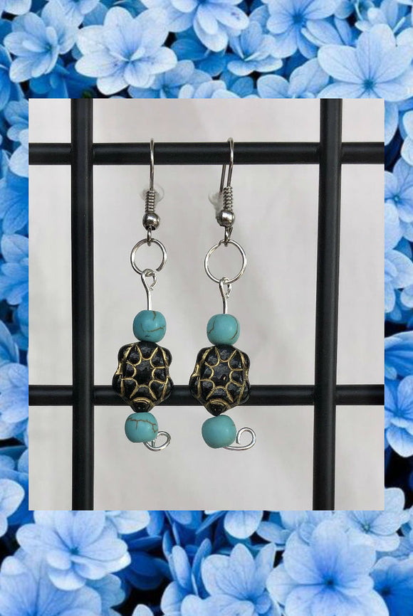 ☯Turtle Bead Earrings☯
