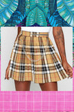 SOLD OUT Chained Plaid Skirt
