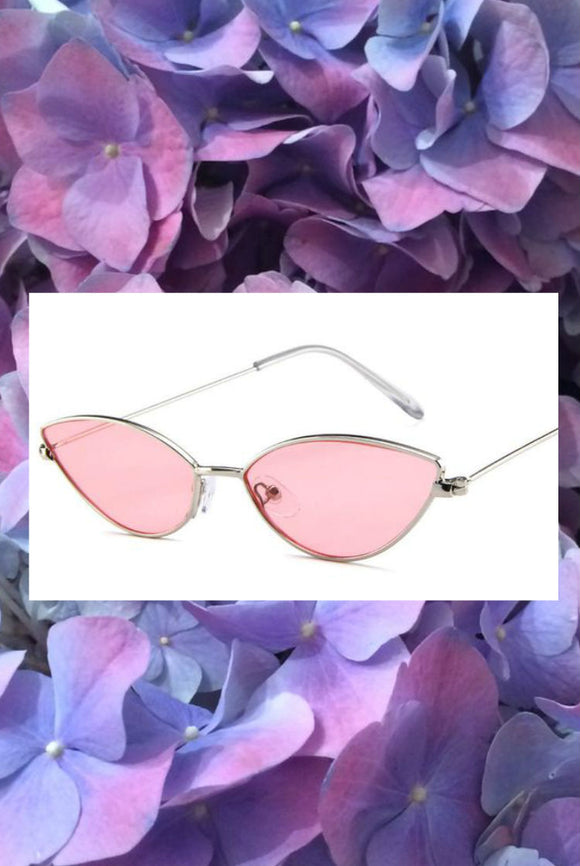 Coloured Frame Cat Eye Glasses