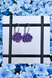 ☯Purple Rose Earrings☯
