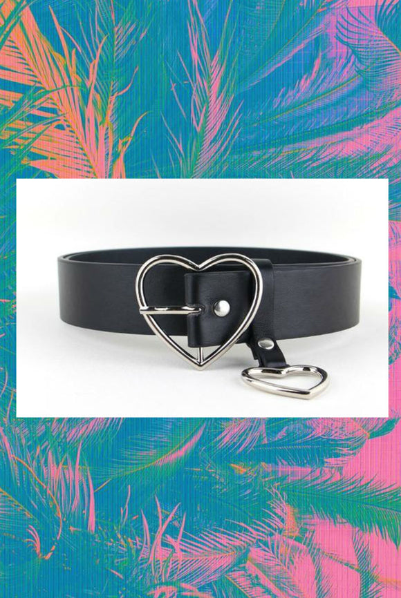 Heart Buckle and Pin Belt