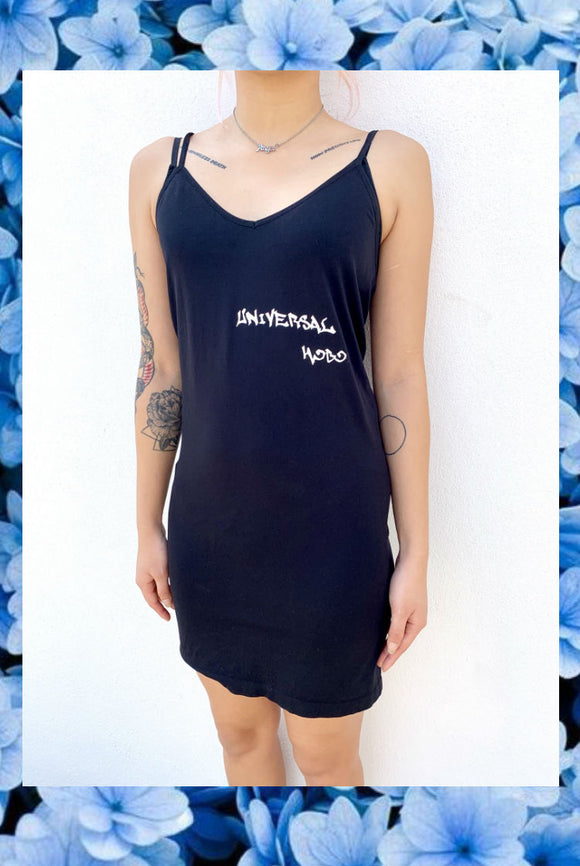 ☯Black Universal Hobo Strappy Dress☯