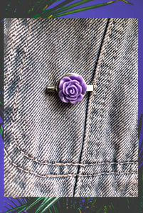 ☯Little Purple Rose Pin☯