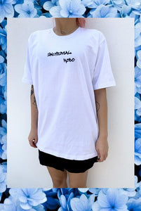 ☯White Universal Hobo T-Shirt☯