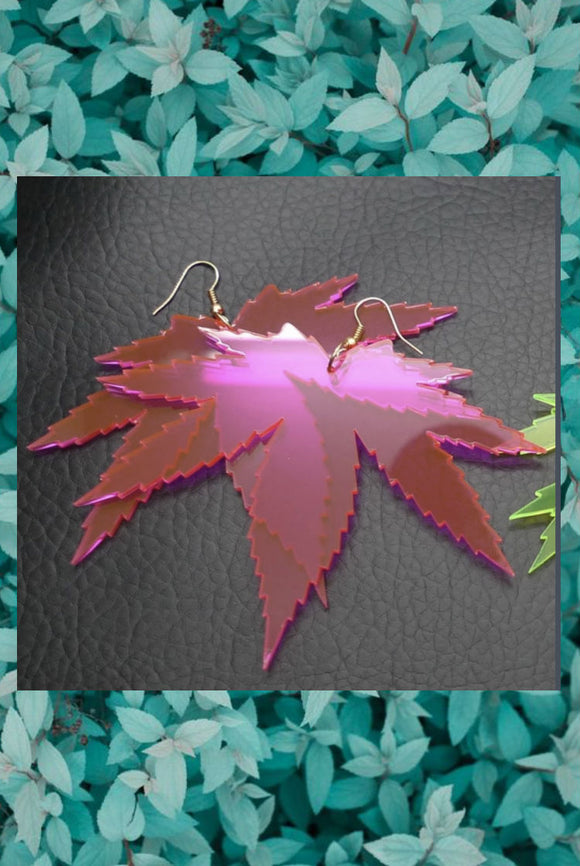 Maple Leaf Acrylic Earrings