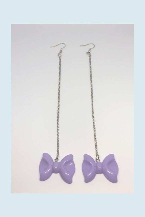 ☯Chained Bow Earrings☯