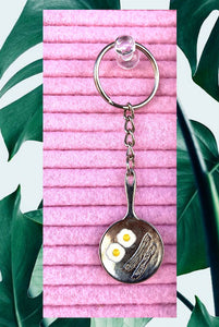 ☯Bacon and Eggs Key Ring☯
