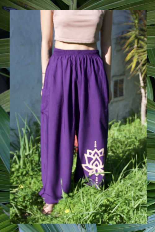 ☯Purple Lotus Hippie Pants☯