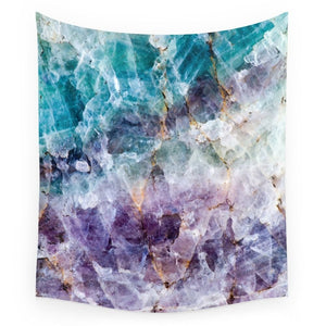 Turquoise & Purple Quartz Crystal Tapestry