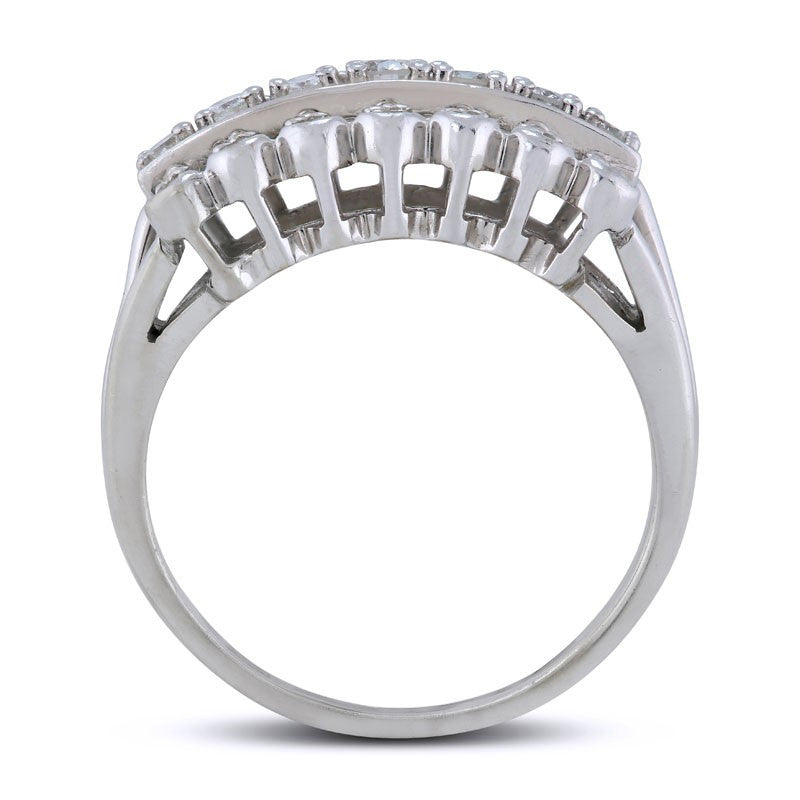 eternity semi white ring bands gold the carat products diamond band fixed karat carats with baguette