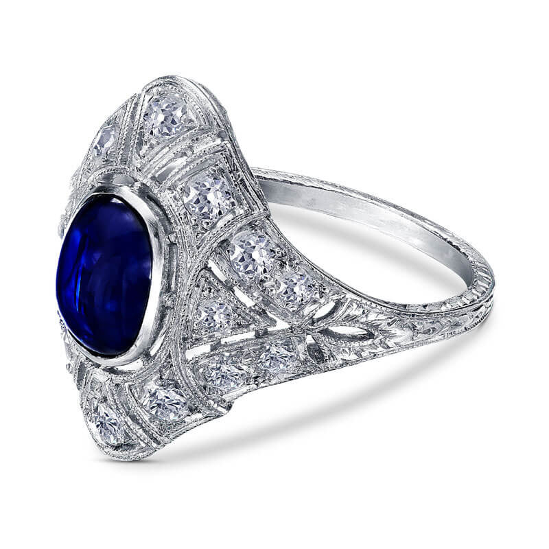 sz dsc sapphire ring floral cocktail solitaire products diamond ctw