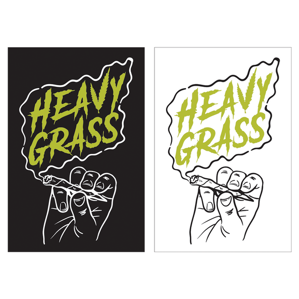 Heavy Grass 'Logo' Sticker