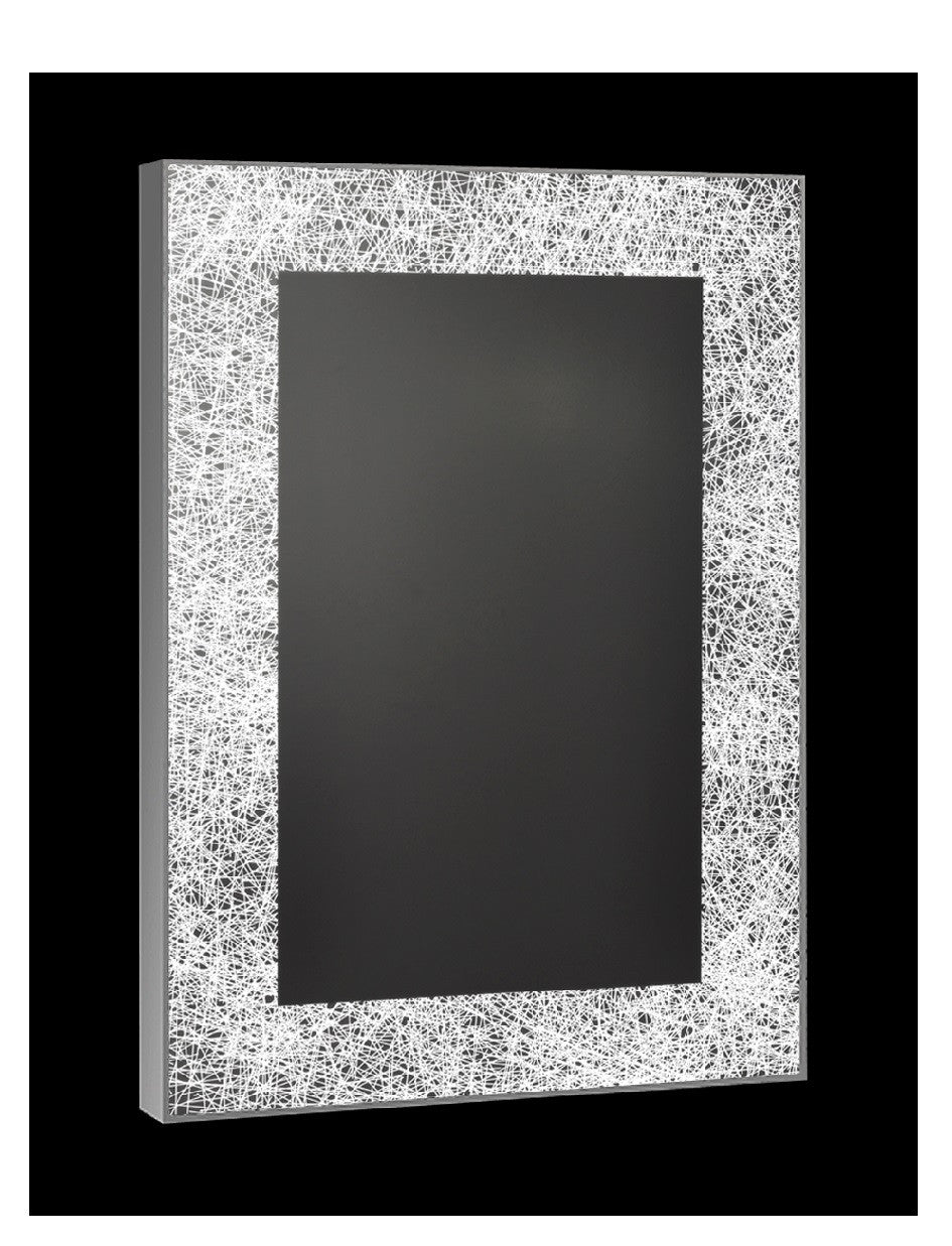 BW69C Rectangle Web Design Back-Lit Mirror