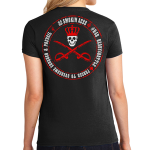 22 SMOKIN ACES - CROSSED SABRE SHIRT WOMANS