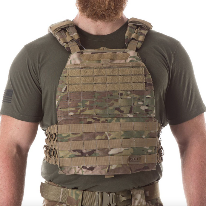 5.11 Plate Carrier With 7lb CURVED PLATES - MULTICAM