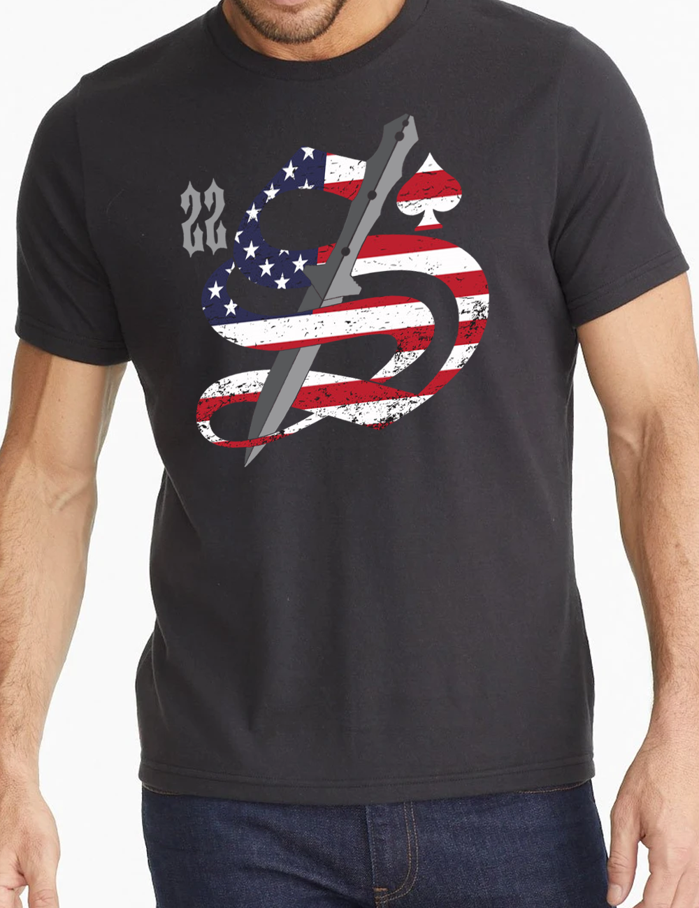22 Smokin AceS - USA Shirt