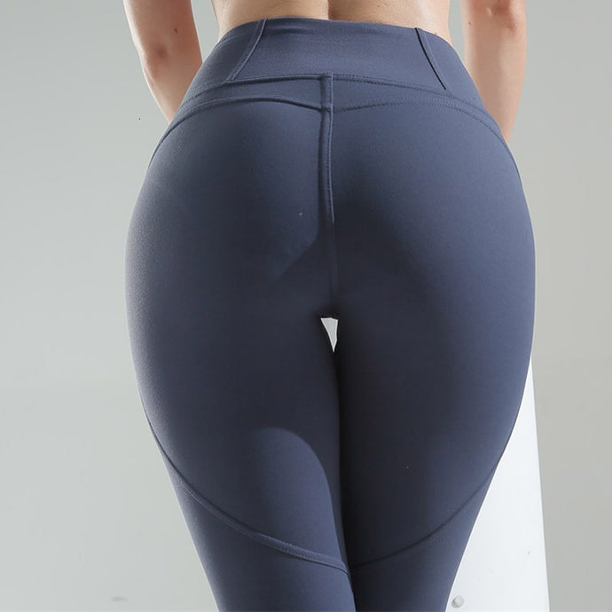 Women High Waist Quick Dry Push Up Fitness Leggings