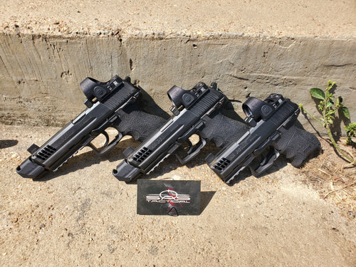 HK P30 Red Dot Cutout Service w/dovetail relocation (sights not included)