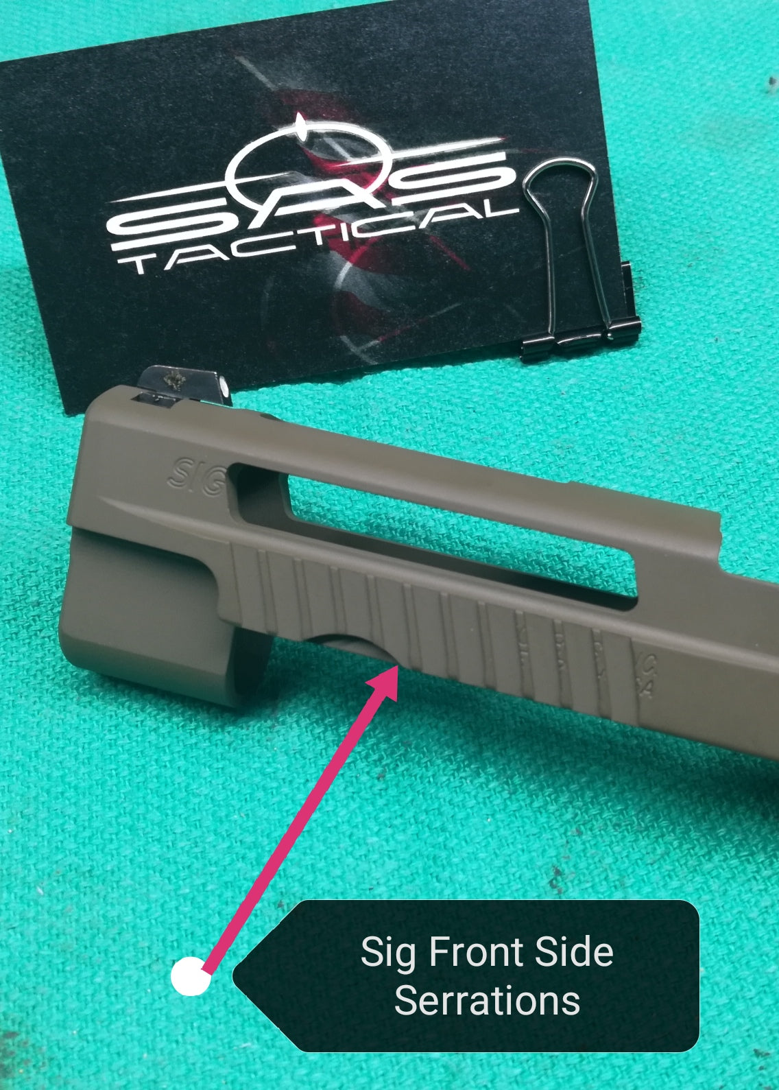 Sig Sauer - Slide Milling Service - Front Side Serrations