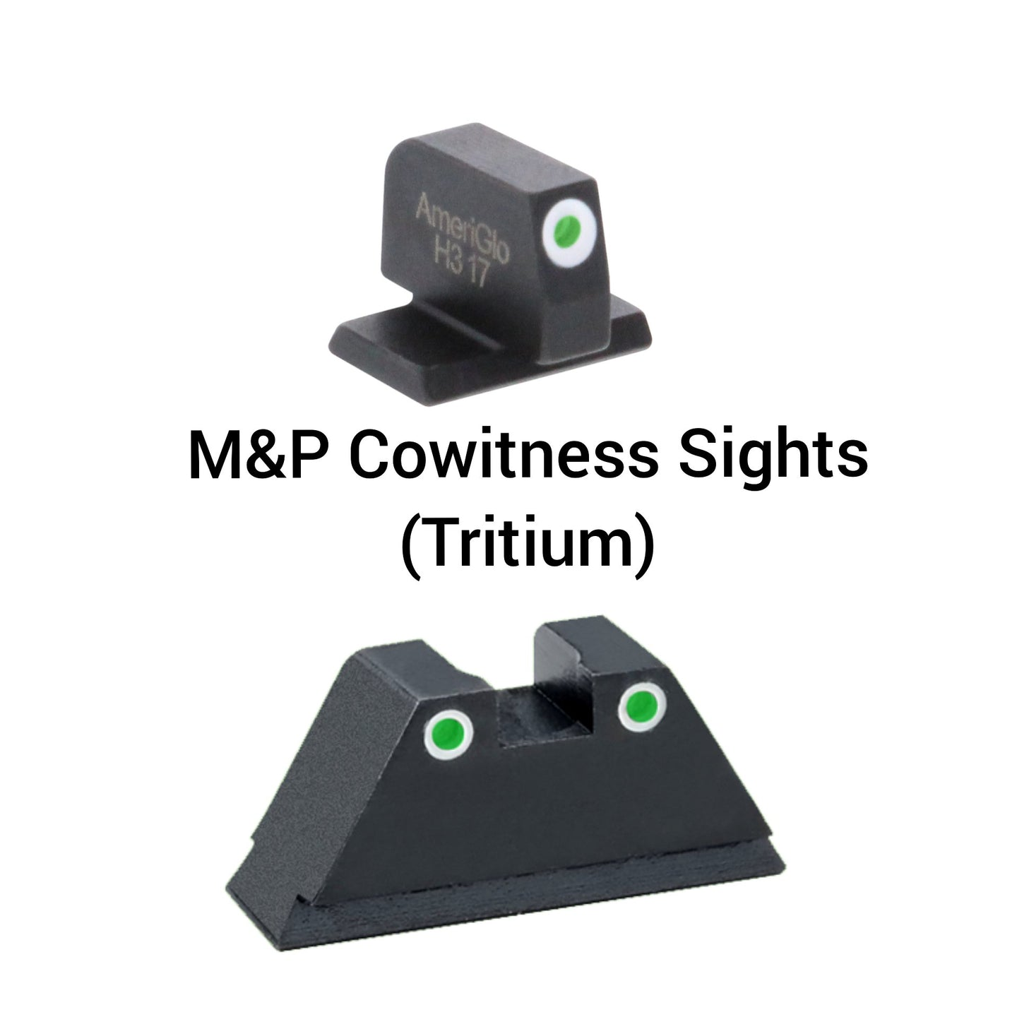 M&P -  Relocation Co-witness Height Sight Set