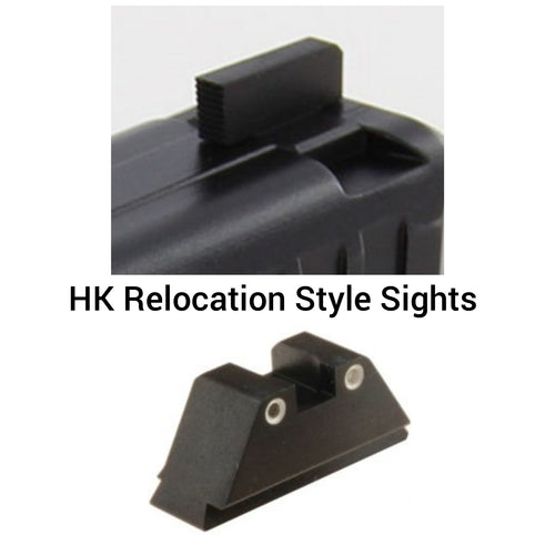 HK -  Relocation Style Co-witness Height Sight Set