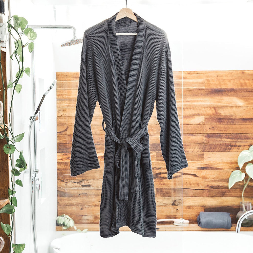 Bamboo Lyocell Waffle Bathrobe Bath Made With 100% Organic Bamboo
