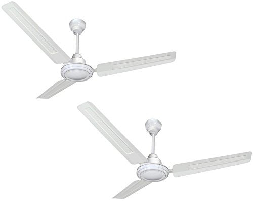 Sameer Gati 1200mm Ceiling Fan,400 R.P.M-100% Copper Motor, White-2 Year Warranty,Pack of 2