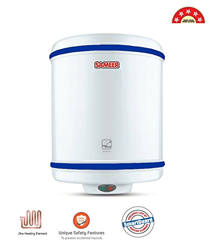 Sameer BEE 5 Star Rating ISI Marked Spout Geyser Water Heater (White),25L