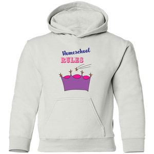 Homeschool Rules Youth Pullover Hoodie