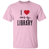 I Love My Library Cotton Tee