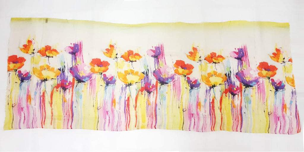 Spring Flowers Digital Print Scarf – Surreal Collection