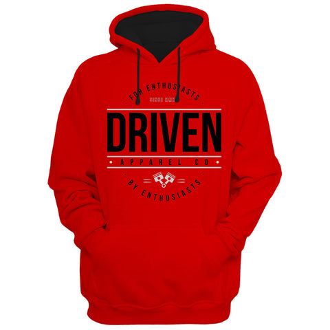 Driven Apparel Red Hoodie