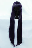 Long Straight Purple-Black Wig