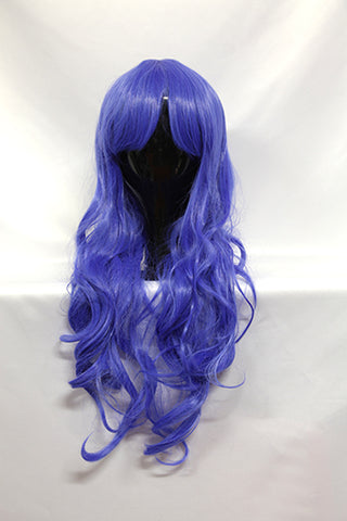 Yoshino - Long Curly Blue Wig