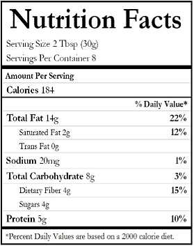 chocolate almond butter nutritional information munch life