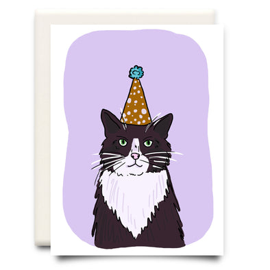 Inkwell Cards - Cat in a Hat Birthday Card