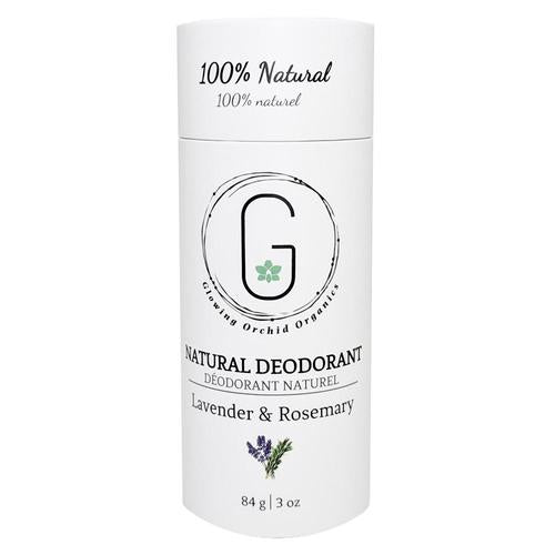 glowing orchid organics natural deodorant lavender and rosemary