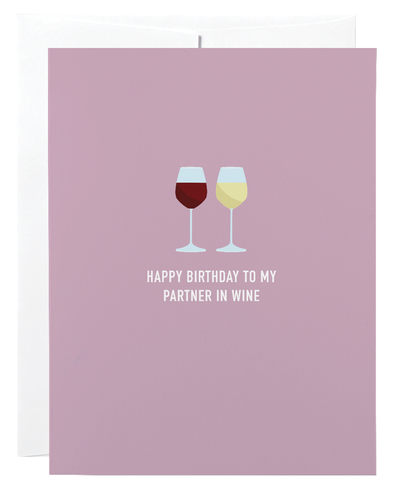 Classy Cards Creative - Partners in Wine Greeting Card