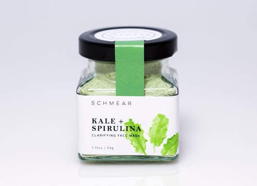 schmear naturals, kale and spirulina face mask