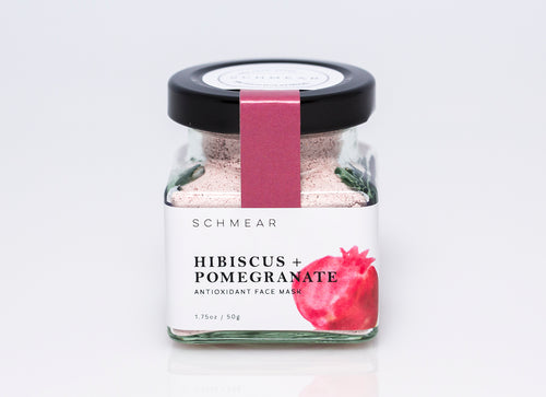 schmear naturals, hibiscus and pomegranate face mask