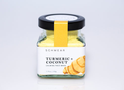 schmear naturals coconut and turmeric face mask