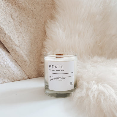 Temper + Lace - Peace Candle