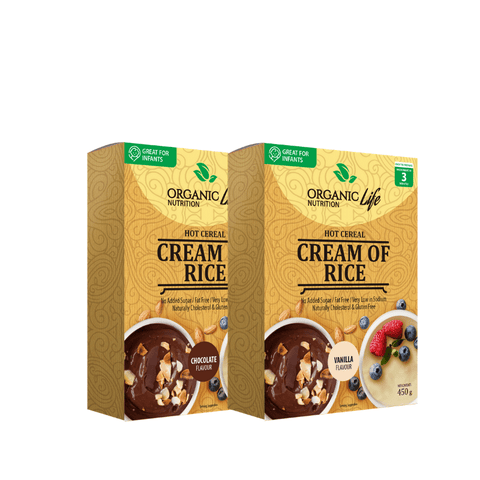 Organic Life Cream of Rice Cereal Box- Flavoured - My Body Guru South Africa