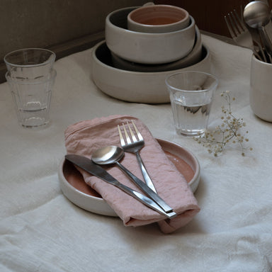 Wabi cutlery set by fleck with ceramic