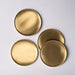 Set of 4 Brass coasters by fleck, stackable